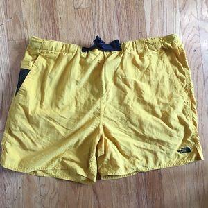 Vintage Yellow north face shorts